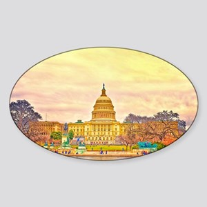 National Capitol Sticker (Oval)