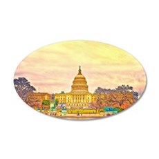 National Capitol 22x14 Oval Wall Peel
