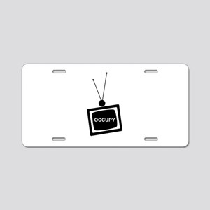 OCCUPY on TV Aluminum License Plate