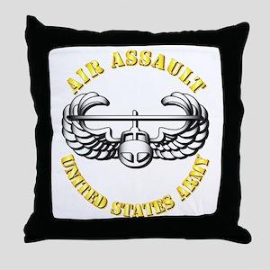 Emblem - Air Assault Throw Pillow