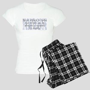 Hanlon's Razor Women's Light Pajamas