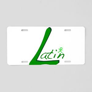 Latin Aluminum License Plate
