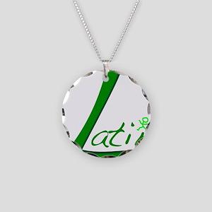 Latin Necklace Circle Charm