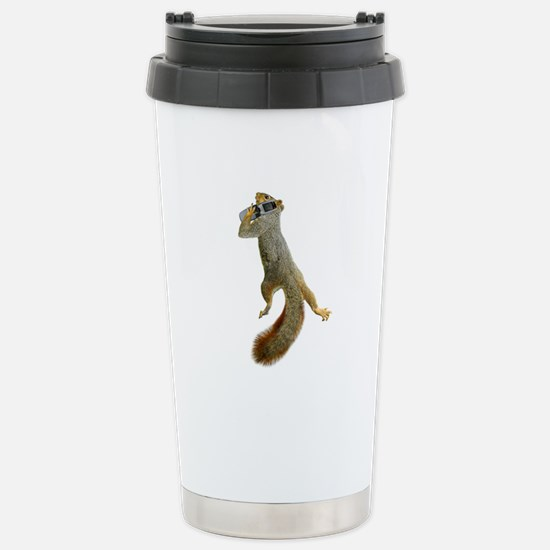 Squirrel Cell Phone Stainless Steel Travel Mug