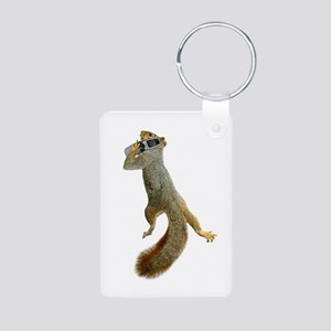 Squirrel Cell Phone Aluminum Photo Keychain