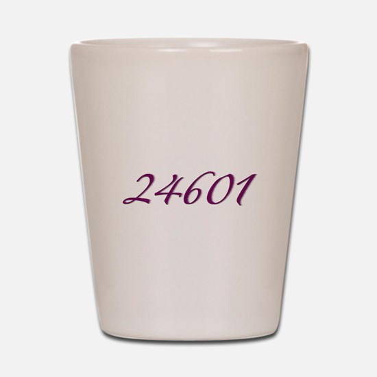 24601 Les Miserable Prisoner Number Shot Glass