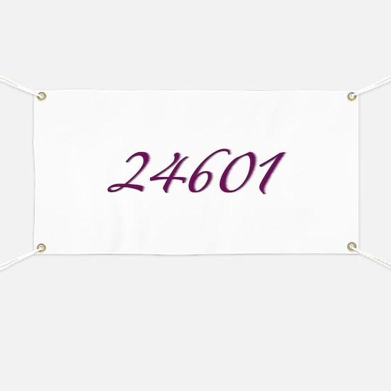 24601 Les Miserable Prisoner Number Banner