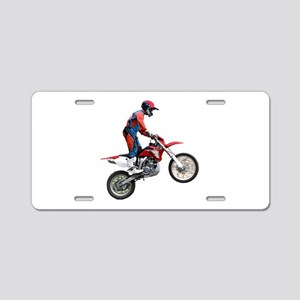 Helaine's Dirt Cycle Aluminum License Plate