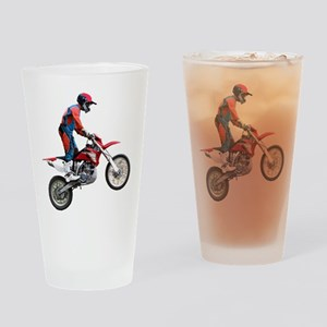 Helaine's Dirt Cycle Drinking Glass