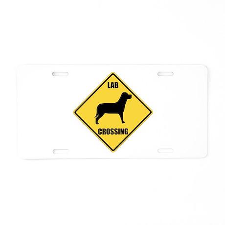 Lab Crossing Sign Aluminum License Plate