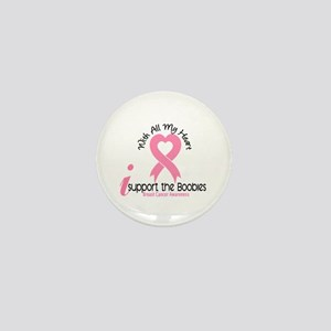 With All My Heart Breast Cancer Mini Button