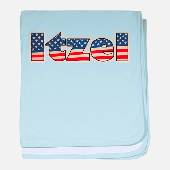 American Itzel baby blanket