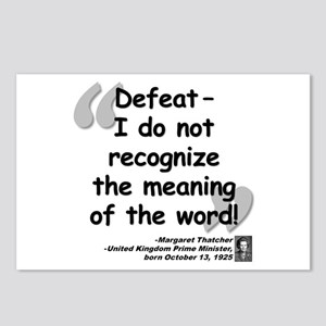 Thatcher Defeat Quote Postcards (Package of 8)