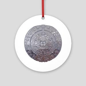 Modern Mayan Calender Ornament (Round)