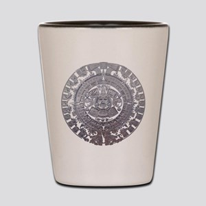 Modern Mayan Calender Shot Glass