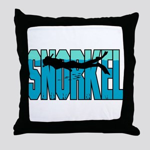 Snorkel Throw Pillow