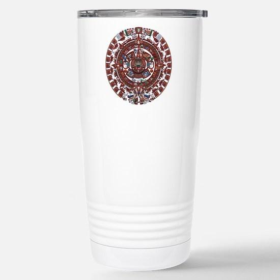 Mayan Calender Stainless Steel Travel Mug