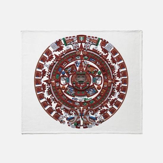 Mayan Calender Throw Blanket