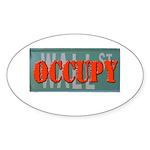 #OccupyWallStreet Sticker (Oval 10 pk)