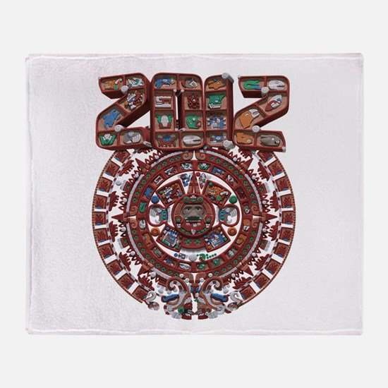 2012 Mayan Calender Throw Blanket