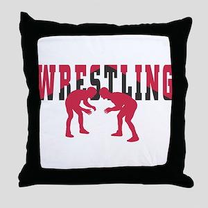 Wrestling 2 Throw Pillow