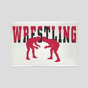 Wrestling 2 Rectangle Magnet