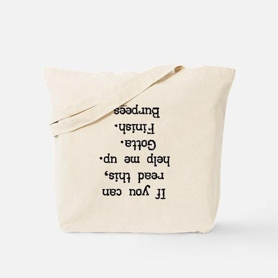 Upside down help burpees Tote Bag