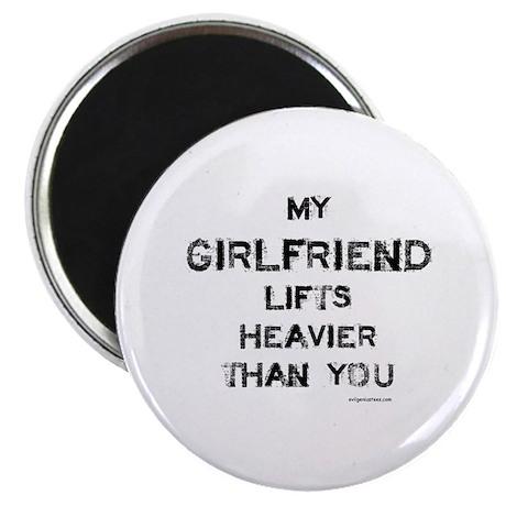 Girlfriend lifts heavier Magnet