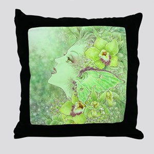 Green Fairy Throw Pillow