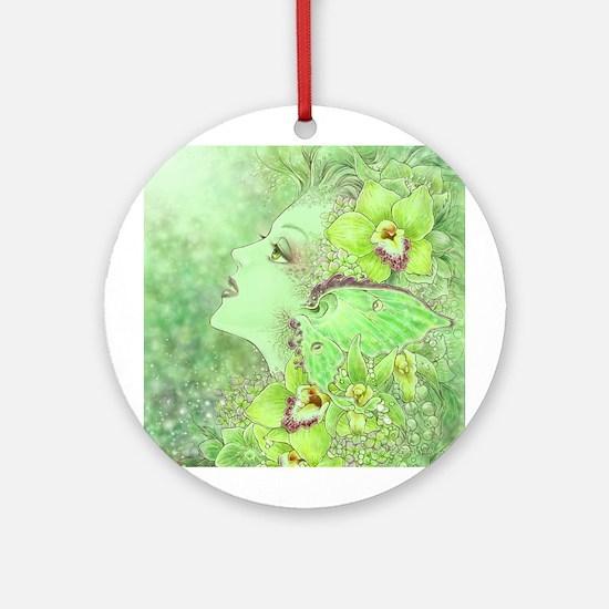 Green Fairy Ornament (Round)