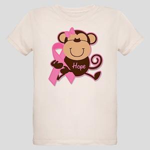 Monkey Cancer Hope Organic Kids T-Shirt