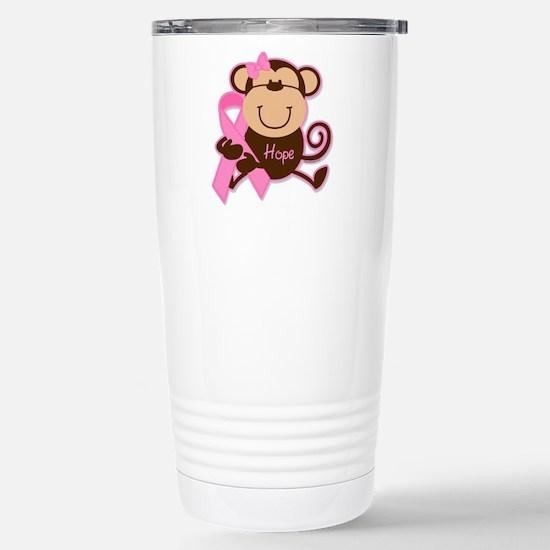 Monkey Cancer Hope Stainless Steel Travel Mug