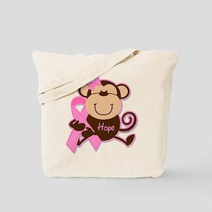 Monkey Cancer Hope Tote Bag