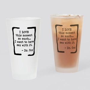 Love This Moment Drinking Glass