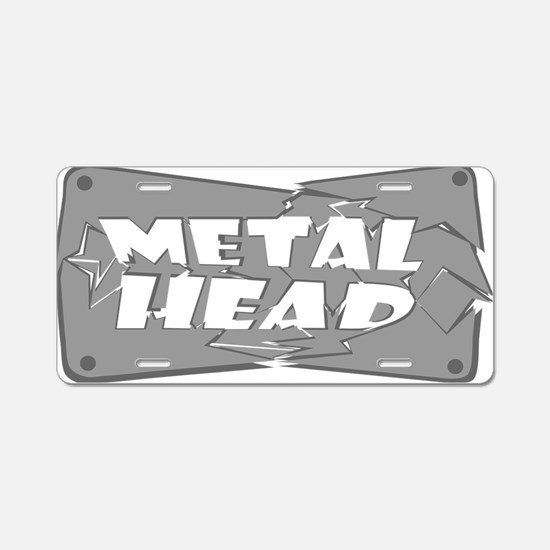 Metal Head Aluminum License Plate