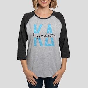 Kappa Delta Polka Dots Womens Baseball T-Shirt