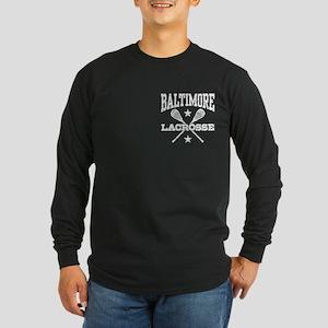 Baltimore Lacrosse Long Sleeve Dark T-Shirt