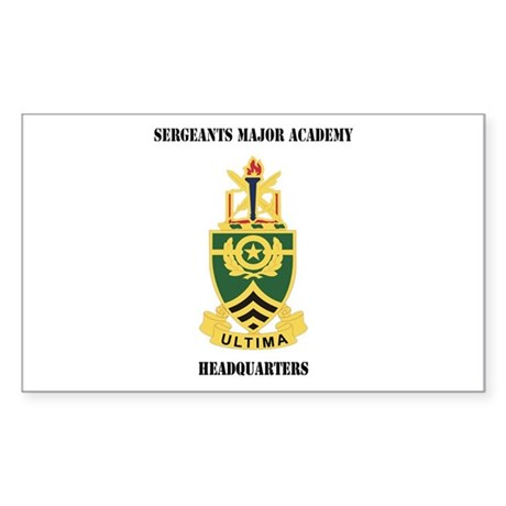 DUI - Sergeants Major Academy HQ with Text Sticker