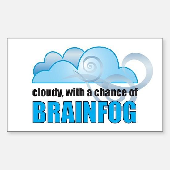 Chance of Brainfog Sticker (Rectangle)