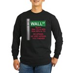 Occupy Wall Street Long Sleeve Dark T-Shirt
