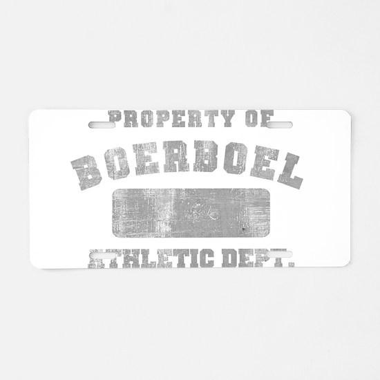 Boerboel Athletic Dept Aluminum License Plate