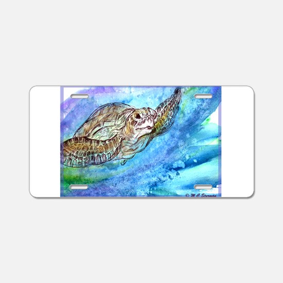 Sea Turtle, wildlife, art, Aluminum License Plate
