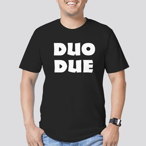Twins due Men's Fitted T-Shirt (dark)