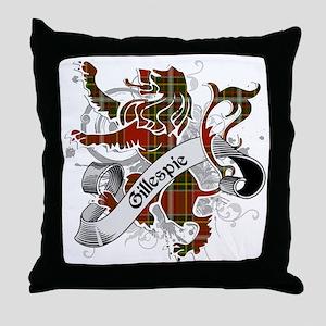 Gillespie Tartan Lion Throw Pillow