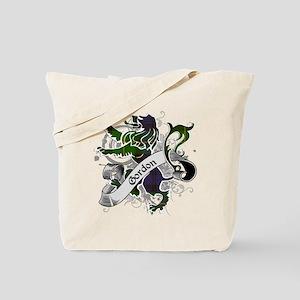 Gordon Tartan Lion Tote Bag