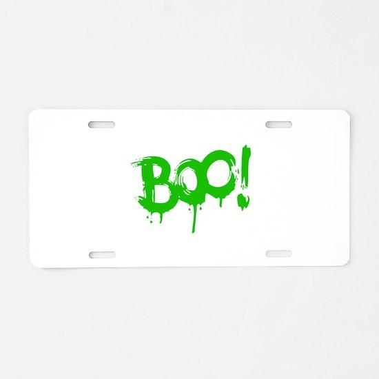 BOO! Aluminum License Plate