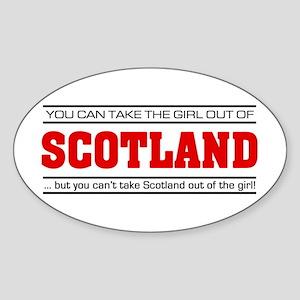'Girl From Scotland' Sticker (Oval)