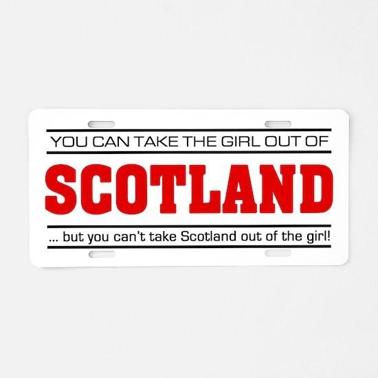 'Girl From Scotland' Aluminum License Plate