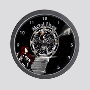 Metal Lives! Wall Clock
