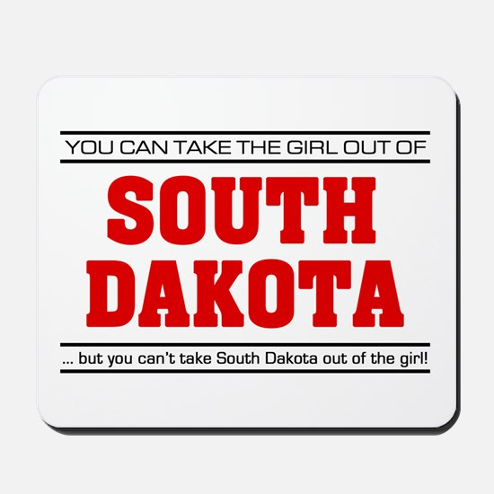 'Girl From South Dakota' Mousepad